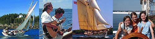 "Sail a ""windjammer"" along the coast of Maine"